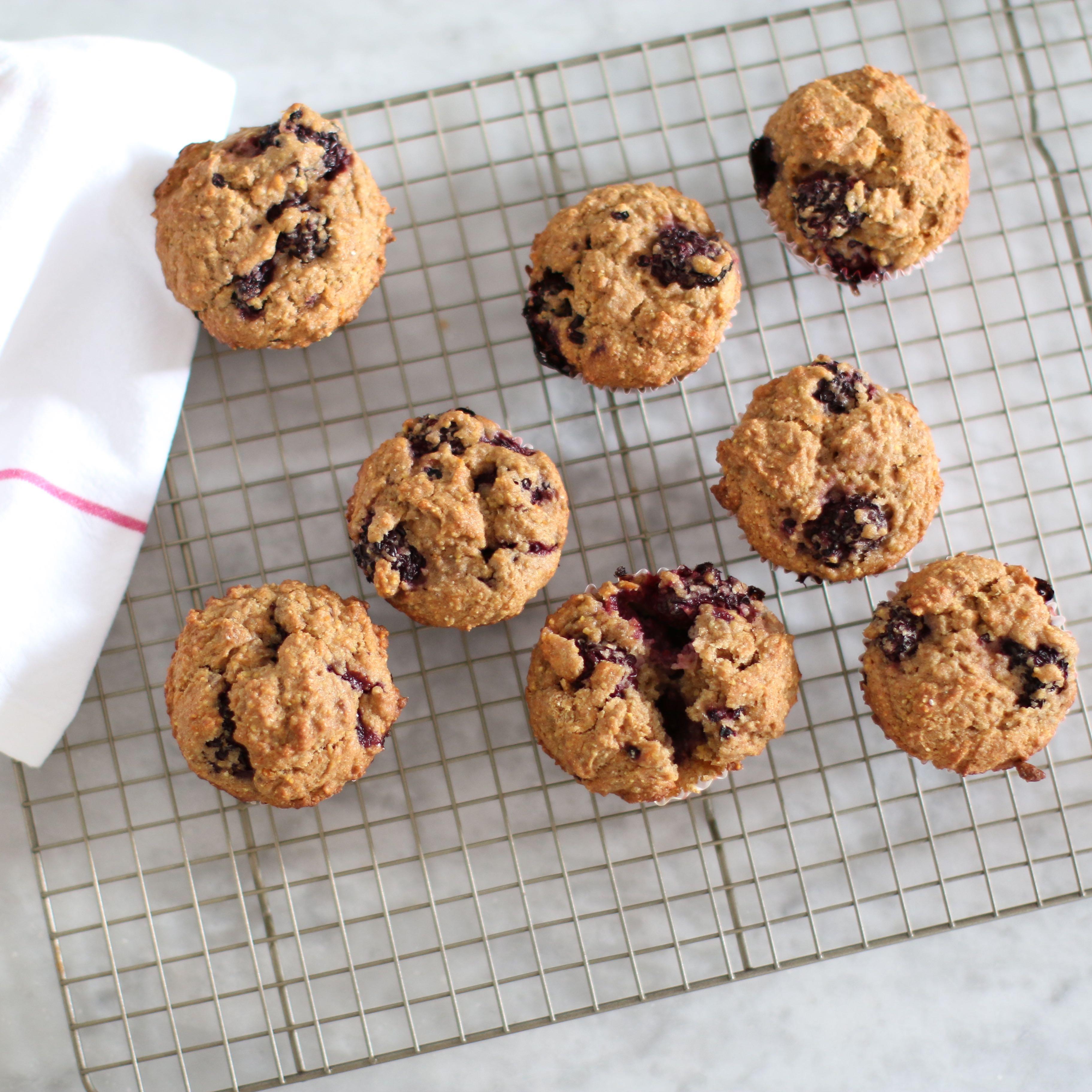 blackberry morning muffins | Greensgirl Nutrition